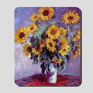 Bouquet of Sunflowers by Claude Monet Mousepad
