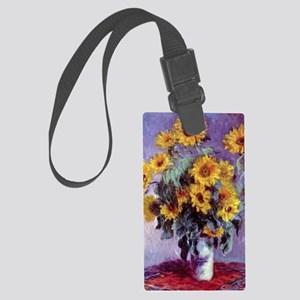 Bouquet of Sunflowers by Claude  Large Luggage Tag