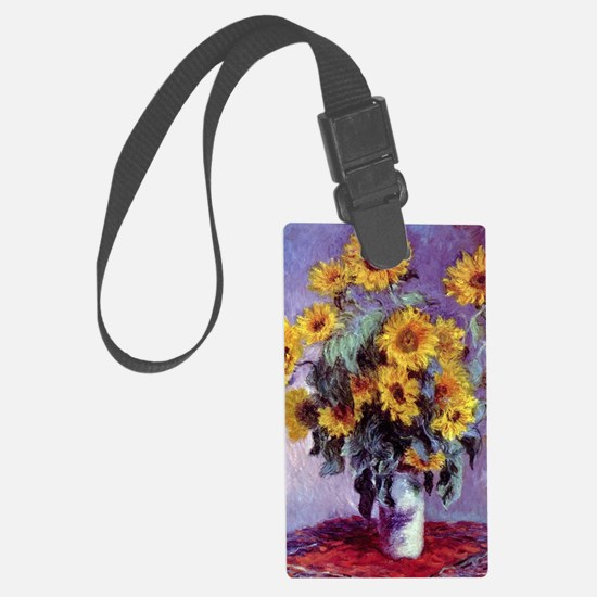 Bouquet of Sunflowers by Claude  Luggage Tag