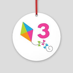 3rd Birthday Kite Ornament (Round)