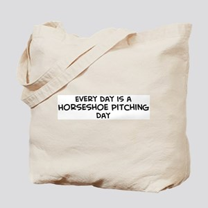 Horseshoe Pitching day Tote Bag