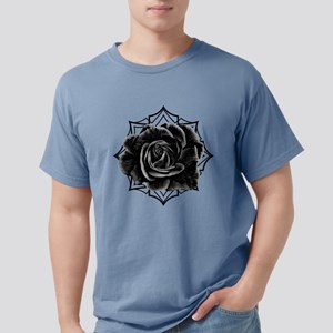Black Rose On Gothic Mens Comfort Colors Shirt