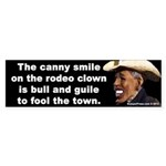 Rodeo Clown Bumper Sticker
