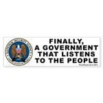 Government That Listens Bumper Sticker