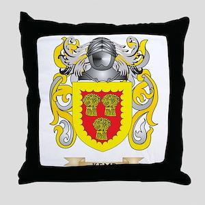 Kemp Coat of Arms (Family Crest) Throw Pillow
