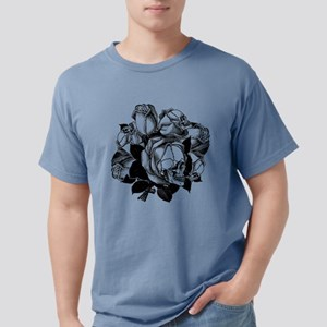 skull-roses_bk Mens Comfort Colors Shirt