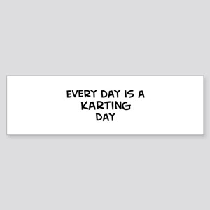 Karting day Bumper Sticker