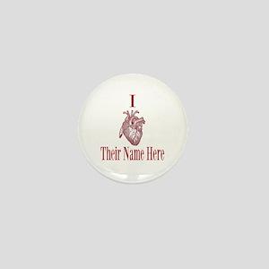 I Heart You Mini Button