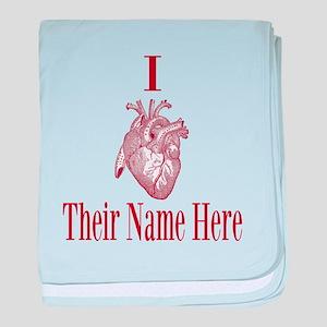 I Heart You baby blanket
