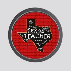 Texas Teacher Wall Clock