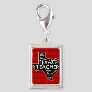 Texas Teacher Silver Portrait Charm