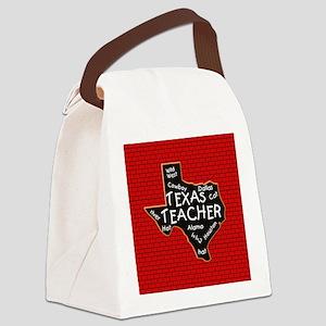Texas Teacher Canvas Lunch Bag