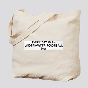 Underwater Football day Tote Bag