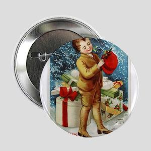 "Vintage 1900s Christmas Greetings 2.25"" Button"