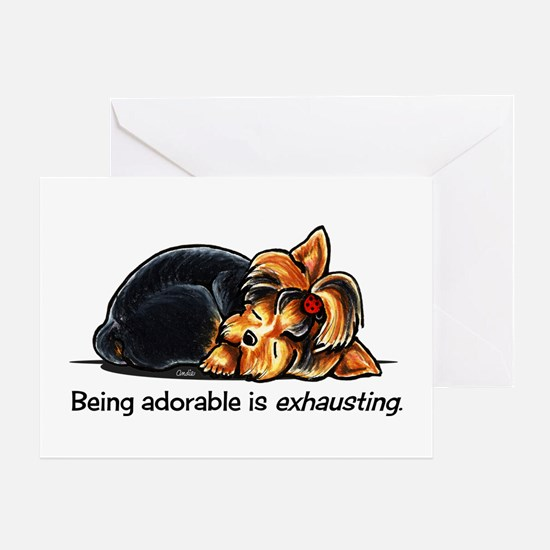 Yorkie Being Adorable Greeting Card