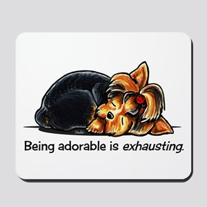 Yorkie Being Adorable Mousepad