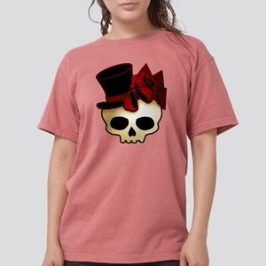 skull-hat-red_shaded Womens Comfort Colors Shi