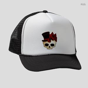 skull-hat-red_shaded Kids Trucker hat
