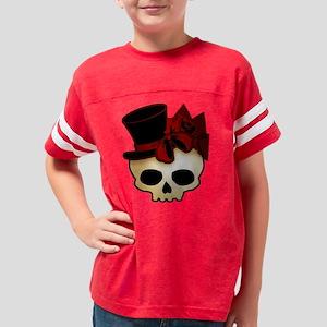 skull-hat-red_shaded Youth Football Shirt