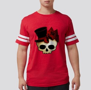 skull-hat-red_shaded Mens Football Shirt