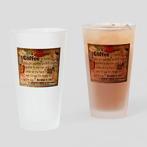 Coffee Love Drinking Glass