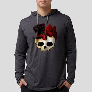 skull-hat-red_shaded Mens Hooded Shirt