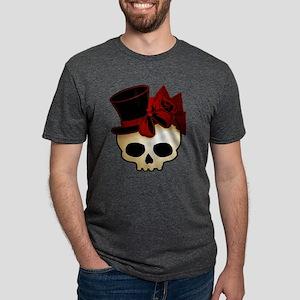 skull-hat-red_shaded Mens Tri-blend T-Shirt