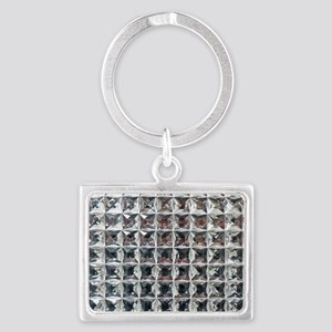 Square Diamond Bling Landscape Keychain