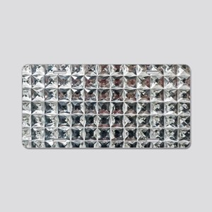 Square Diamond Bling Aluminum License Plate