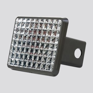 Square Diamond Bling Rectangular Hitch Cover
