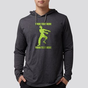 PERSONALIZED Zombie Mens Hooded Shirt