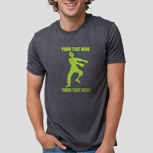 PERSONALIZED Zombie Mens Tri-blend T-Shirt