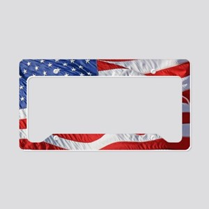 Waving Wind American Flag License Plate Holder