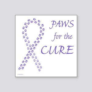 "paw4cure_violet Square Sticker 3"" x 3"""