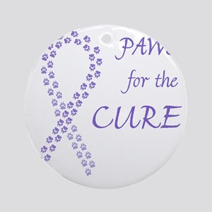 paw4cure_violet Round Ornament