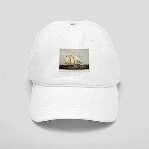 The yacht Meteor - 1869 Baseball Cap