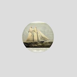 The yacht Meteor - 1869 Mini Button