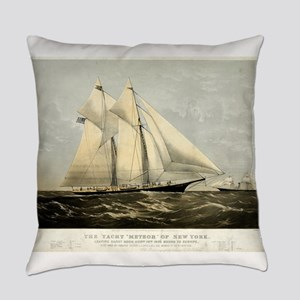 The yacht Meteor - 1869 Everyday Pillow