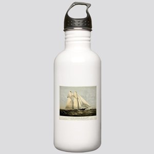The yacht Meteor - 1869 Water Bottle