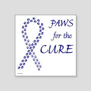 "paw4cure_blue Square Sticker 3"" x 3"""