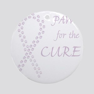 paw4cure_orchid Round Ornament