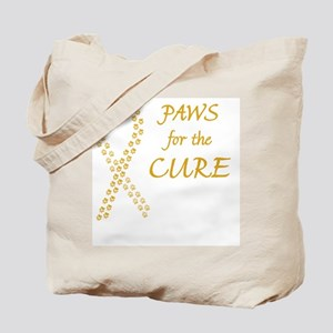 btn_paw4cure_gold Tote Bag
