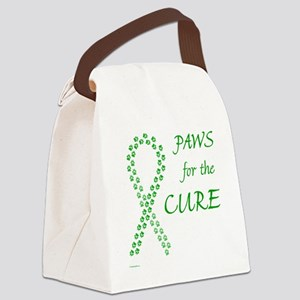 paw4cure_green Canvas Lunch Bag