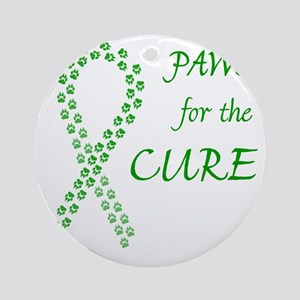 paw4cure_green Round Ornament