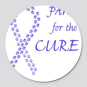 tile_paw4cure_pwkl Round Car Magnet