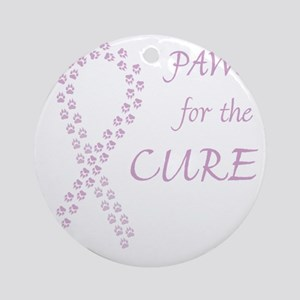 trp_paw4cure_lvdr Round Ornament