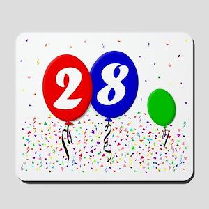28bdayballoon3x4 Mousepad