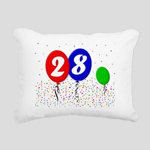 28bdayballoon3x4 Rectangular Canvas Pillow