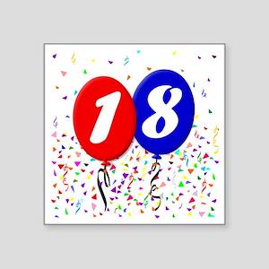 "18bdayballoon Square Sticker 3"" x 3"""
