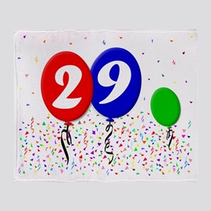 29bdayballoon3x4 Throw Blanket